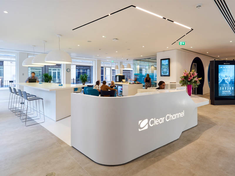 Clear Channel office fit out – Workspace of the future