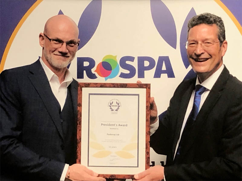 Parkeray's Health & Safety Team Collects RoSPA Gold Award