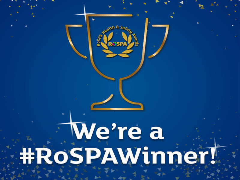 Parkeray Receives RoSPA President's Award for Health and Safety Achievements